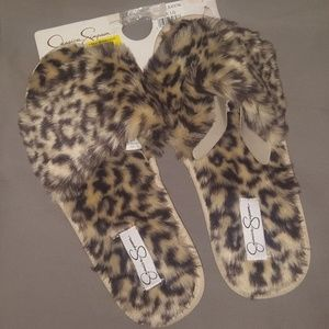Jessica Simpson Leopard Slippers